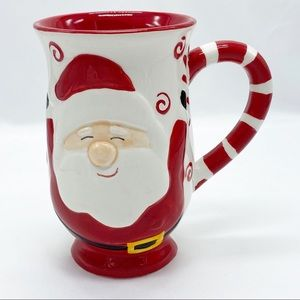 Santa Claus Candy Cane Novelty Coffee Mug
